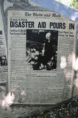 Hurricane Hazel newspaper headlines, 1954, #1
