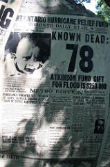 Hurricane Hazel newspaper headlines, 1954, #2