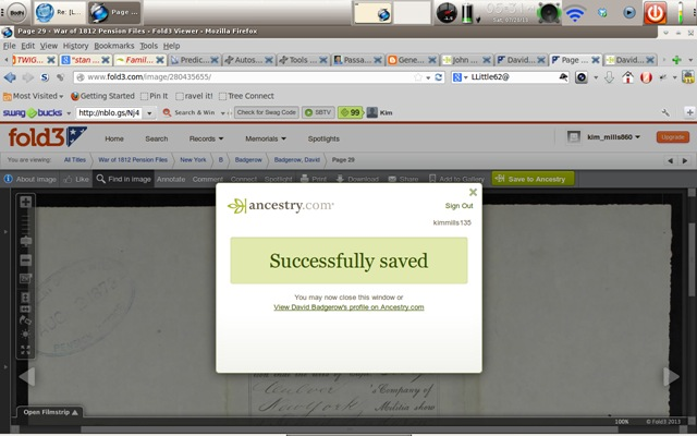Fold3 record saved to Ancestry Tree