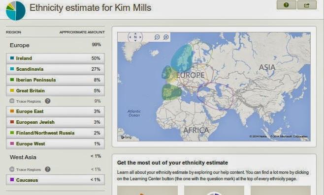 AncestryDNA Ethnic map