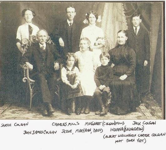 Charles Mills & Margaret Colgan Marriage